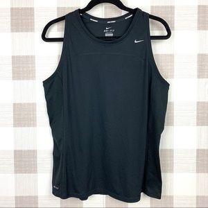 Nike Dri-Fit Black Running Tank Top Sz XL Mesh
